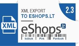 XML prekių eksportas į eShops.lt / XML export ..