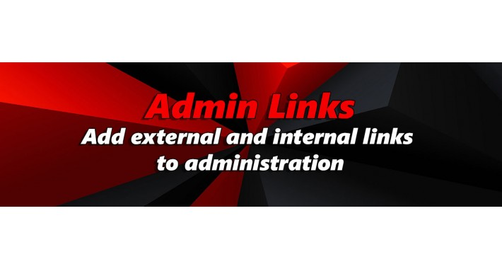 Admin Links - Custom menu