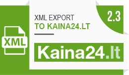 XML prekių eksportas į kaina24.lt / XML export..