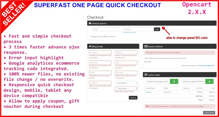 SUPERFAST ONE PAGE QUICK CHECKOUT 2.X.X