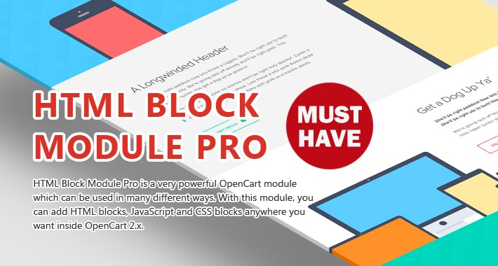 HTML Block Module Pro - Add HTML blocks anywhere!