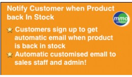 Notify Customer when Product in Stock