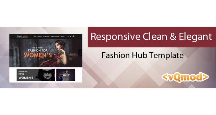 Responsive Clean and Elegant Fashion Hub Template