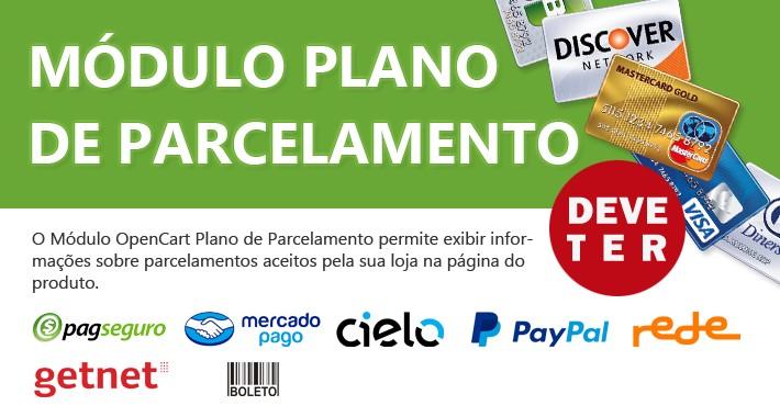 Plano de Parcelamento - PagSeguro, Cielo, PayPal e muito mais