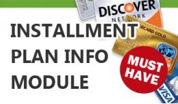 Installment Plan Info Module - PagSeguro, Cielo,..