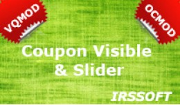 Coupon Visible & Slider  VQMOD / OCMOD