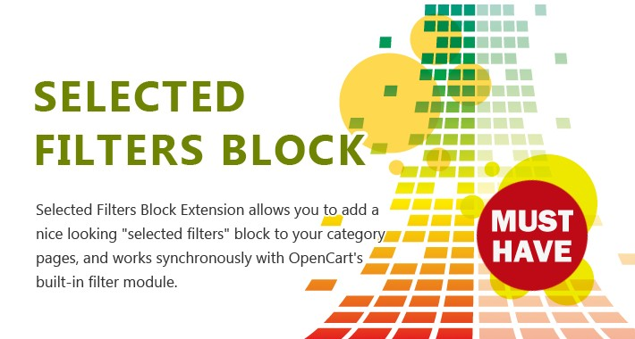 Selected Filters Block - A nice addition to your filter module