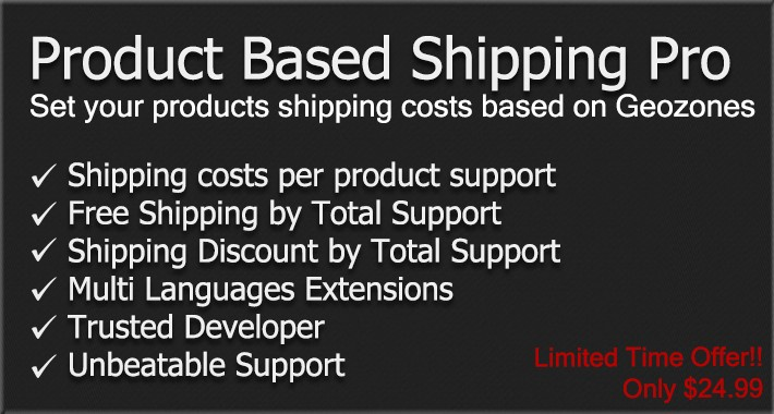 Product Based Shipping Pro