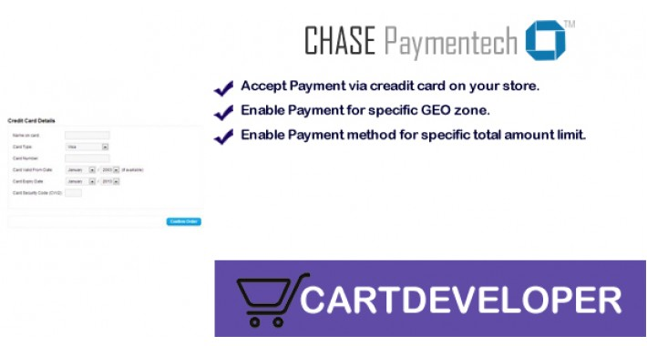 Chase Paymentech Orbital Payment gateway for Opencart