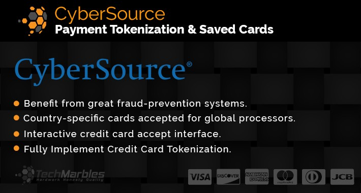 Cybersource Payment Tokenization  & Saved Cards