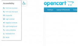 opencart accessibility