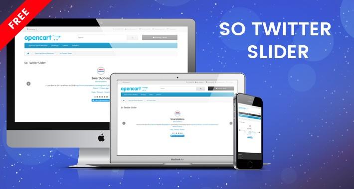 So Twitter Slider -  Free Twitter OpenCart Module