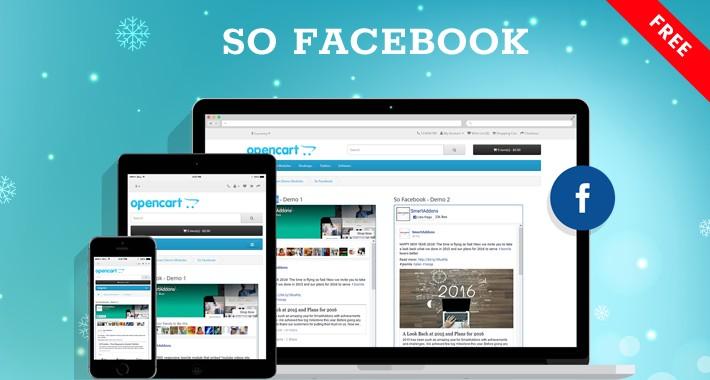 So Facebook - Free Social Connecting OpenCart Module