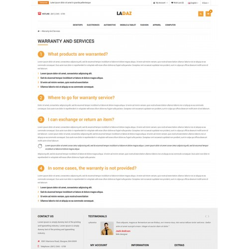So Ladaz Free Responsive Opencart Theme Is Specially Designed For Ecommerce Sites Such As Electronics Mobile Home Accessories Computeratch Any