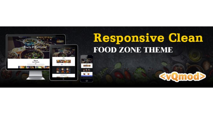 Responsive Clean  and Elegant Food Zone Theme