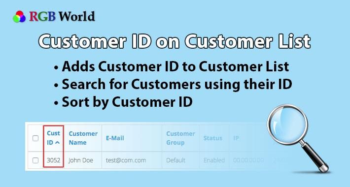 Customer ID on Customer List
