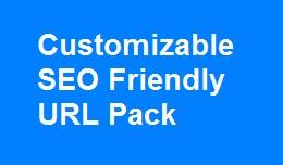 Fully Customizable SEO friendly url pack multili..