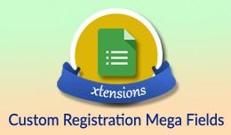 Custom Registration Fields Premium-Mega Countles..