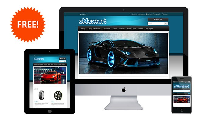 zMaxcart - Free Opencart Theme