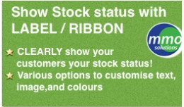 Show Stock Status With Label Ribbon