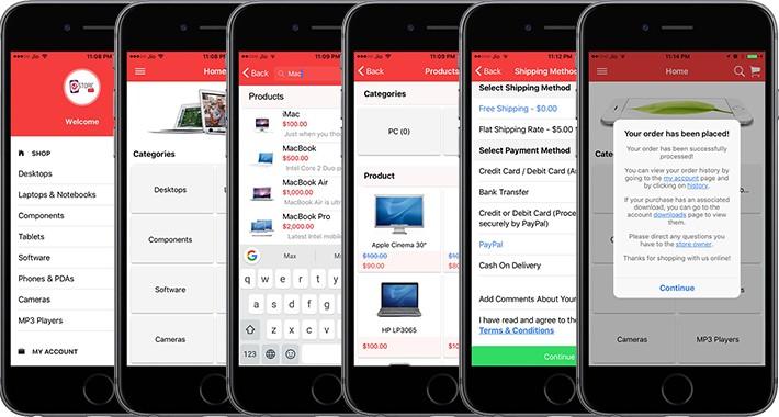 OpenCart - Free mobile app
