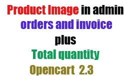 Add Product Image in Orders and Invoice