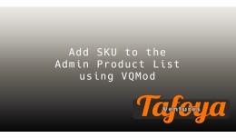 Add SKU to Admin Product List