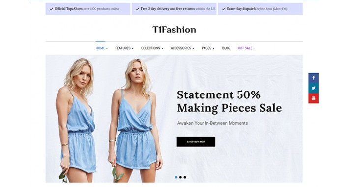 T1Fashion - Multi-purpose Responsive eCommerce OpenCart Theme