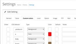 Admin Color Panel