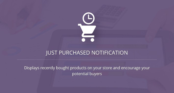 Just Purchased Notification - OC1.5.x