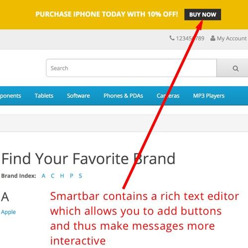 OpenCart - SmartBar - Smart message bar for your OpenCart store