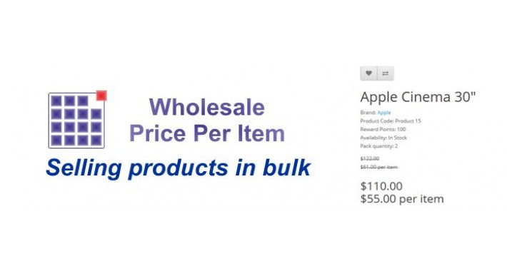 Wholesale - Price Per Item