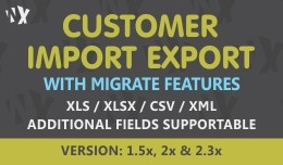 Customer Import Export - 1.5x and 2.x