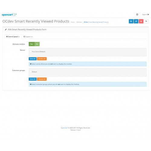 OpenCart - Smart Recently Viewed Products