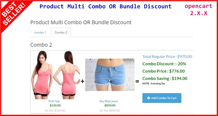 Product Multi Combo OR Bundle Discount