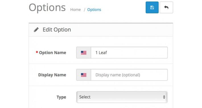 Alternate Option Display Names