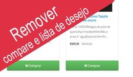 Remover Compare Wishlist Button