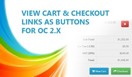 View Cart and Checkout links as buttons (for 2.X)