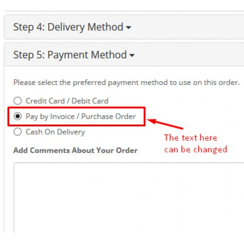 Opencart  Pay By Invoice  Purchase Order