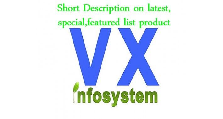 vx Product Short Description