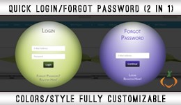 Quick Login/ Forgot Password | Colors/ Style ful..