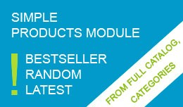 Simple Products (from Category, Random, Bestsell..