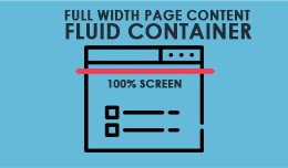 Full Width Page Content Fluid Container