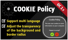 Cookie Policy for OpenCart 2