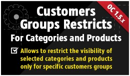Customers Groups Restricts [Categories&Produ..