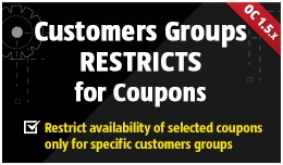 Customers Groups Restricts [Coupons]