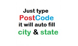 auto fill city & state option using post code
