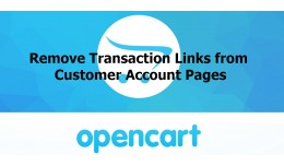 Remove Transactions Links