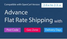 Opencart Advance Flat Rate Shipping