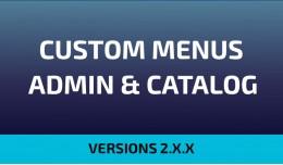 Custom Menus Admin & Catalog